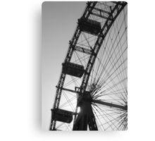 Monochrome ferris wheel, Vienna Canvas Print