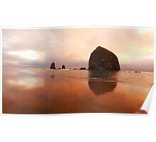 LG G5 Haystack Sunset Poster