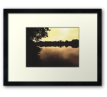 Early morning at the harbour Framed Print