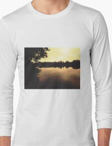 Early morning at the harbour Long Sleeve T-Shirt