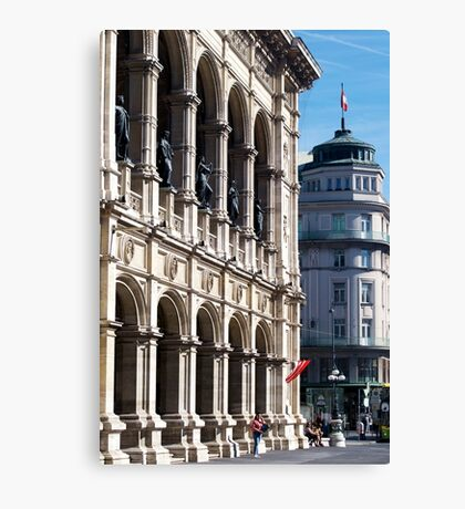 Vienna street and buildings Canvas Print