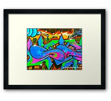 Graffiti Wall #2 West Philly Abstract Framed Print