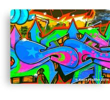 Graffiti Wall #2 West Philly Abstract Canvas Print