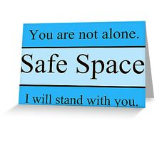 Safe Space Apparel Greeting Card