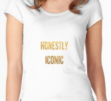 Honestly Iconic - Gold Women's Fitted Scoop T-Shirt