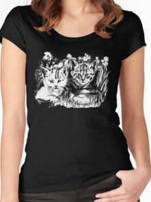 Pink Baby Cats  Women's Fitted Scoop T-Shirt