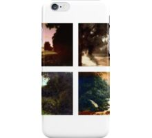 Tiled composition of four antique photographs of rural Britain taken around 1910 iPhone Case/Skin