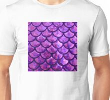 Mermaid Scales - Purple- Pink Unisex T-Shirt