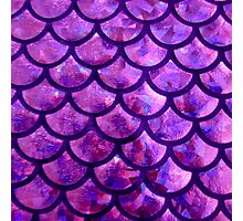 Mermaid Scales - Purple- Pink Photographic Print