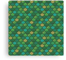 Mermaid Scales - Greens Canvas Print