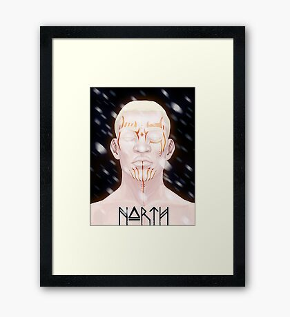 NORTH Framed Print