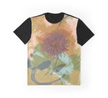 Autumnal Brushstrokes, Mid Century Floral Abstract  Graphic T-Shirt