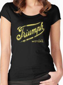 Triumph retro vintage logo Women's Fitted Scoop T-Shirt