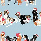 Coonhound Holiday by VieiraGirl