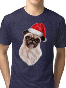 Merry Pug Xmas! Tri-blend T-Shirt