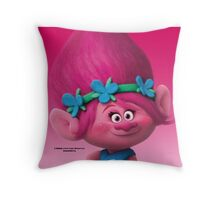 Poppy--Trolls Movie Throw Pillow