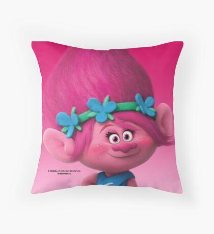 Poppy--Trolls Movie Throw Pillow
