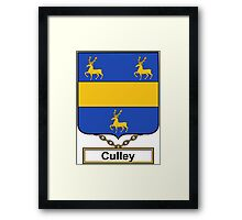 Culley Coat of Arms (English) Framed Print