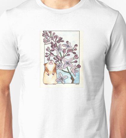 Hamster Under Lilac Unisex T-Shirt