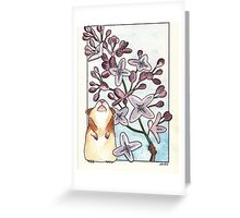 Hamster Under Lilac Greeting Card