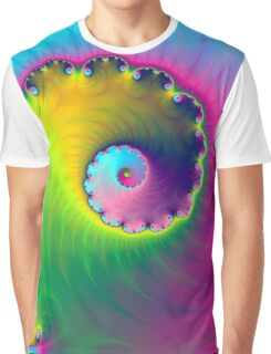 Color Wash Spiral Graphic T-Shirt