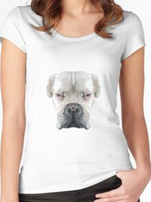 Boxer dog low poly. Women's Fitted Scoop T-Shirt