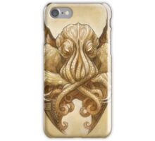 Cthulhu Dreaming, in Cyclopean sepia iPhone Case/Skin