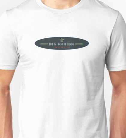 Big Kahuna Hawaiian Style Oval Unisex T-Shirt