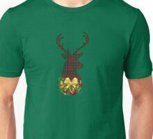 Plaid Christmas stag Unisex T-Shirt