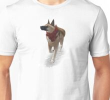 German Shepard - Snowy Days Unisex T-Shirt