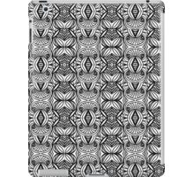 Black and White and Awesome Repeat Pattern iPad Case/Skin