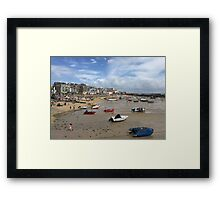 St Ives Beach, Cornwall Framed Print