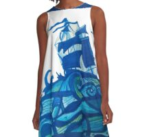 shipping through blue seas A-Line Dress
