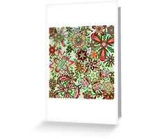 Christmas Kaleidoscope Floral 1 Greeting Card