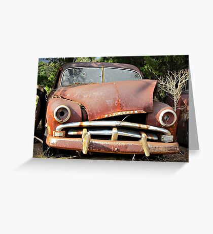 Rust adds character Greeting Card