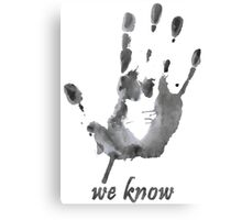 We Know - Dark Brotherhood - Watercolor Canvas Print