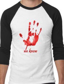 We Know - Dark Brotherhood - Watercolor Men's Baseball ¾ T-Shirt