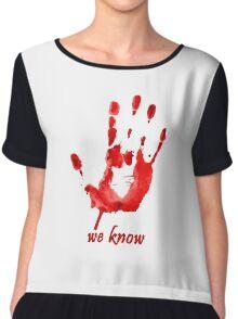We Know - Dark Brotherhood - Watercolor Chiffon Top