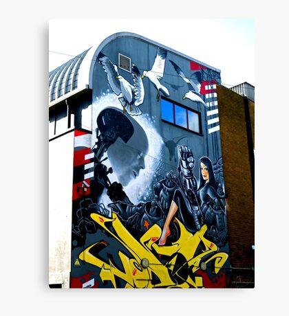 Backstreet Brighton Art Canvas Print