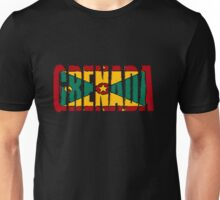 Grenada Font With Flag Unisex T-Shirt