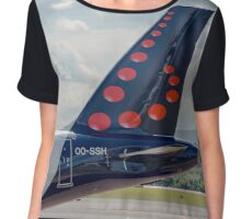 Brussels Airlines Airbus A319 tail livery  Chiffon Top