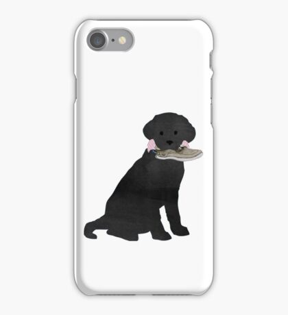 Boat Shoe Preppy Dog - Black Lab iPhone Case/Skin