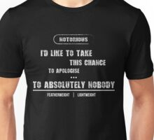 "Conor ""The Apologizer"" Unisex T-Shirt"