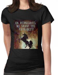 Unicorns Smash Patriarchy! Womens Fitted T-Shirt