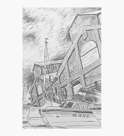 Black and white drawing Photographic Print