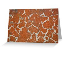 Old russet color on concrete Greeting Card