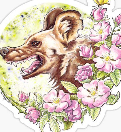 Wild Dog Rose Sticker