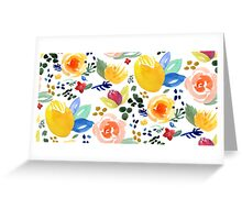 Floral Flower Bouquet Greeting Card