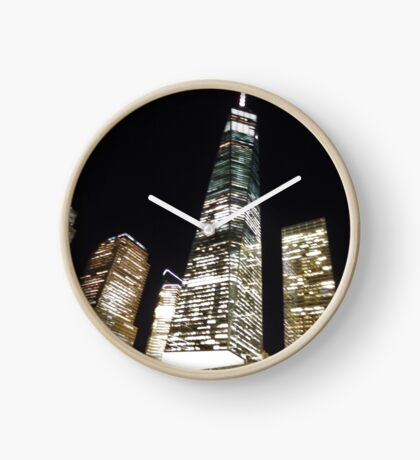 The Freedom Tower, NYC, at night Clock