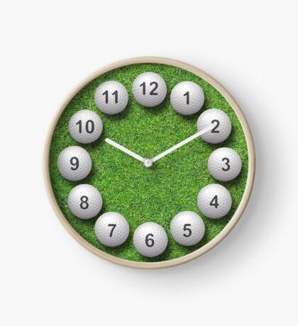 Golf Balls Timepiece Clock